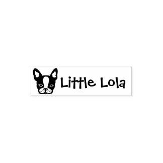 Sello del nombre de Dogo-Frenchie-Boston Terrier