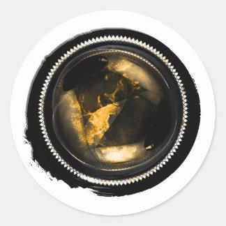 Sello del ópalo del escudo de la cera del Topaz Pegatina Redonda