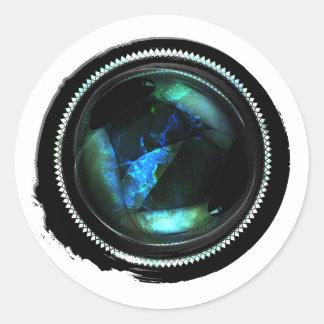 Sello del ópalo místico del escudo de la cera pegatina redonda