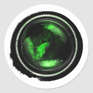 Sello del ópalo místico esmeralda del escudo de la pegatina redonda