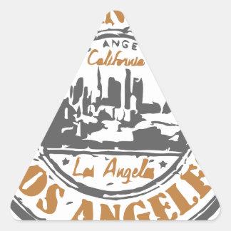 Sello del orgullo de Los Ángeles California Pegatina Triangular