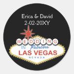 Sello del sobre del boda de Vegas Etiqueta