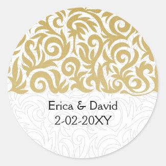 sello del sobre del oro etiquetas redondas