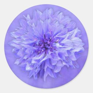 Sello del sobre floral de la lila