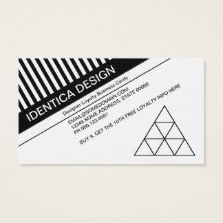sello diagonal de la lealtad de las persianas tarjeta de negocios