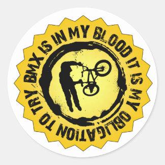 Sello fantástico de BMX Pegatina Redonda