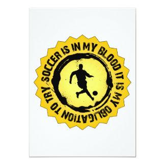 Sello fantástico del fútbol invitación 12,7 x 17,8 cm