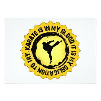 Sello fantástico del karate invitación 12,7 x 17,8 cm