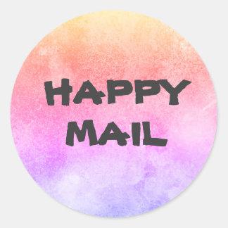 Sello feliz del sobre del correo