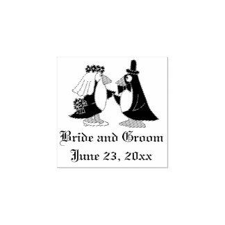 Sello fresco del boda de novia y del novio del