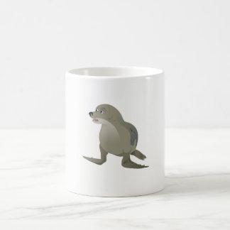 Sello gris taza de café