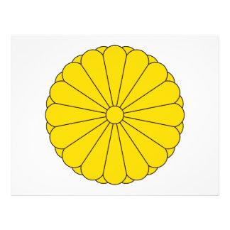 Sello imperial del escudo de armas de Japón Tarjetón