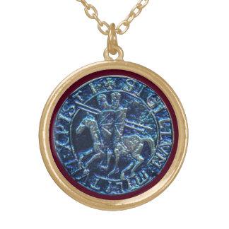 Sello medieval de los caballeros Templar Colgante Redondo