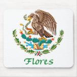 Sello nacional mexicano de Flores Alfombrilla De Ratón