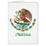 Sello nacional mexicano de Molina Tarjeta