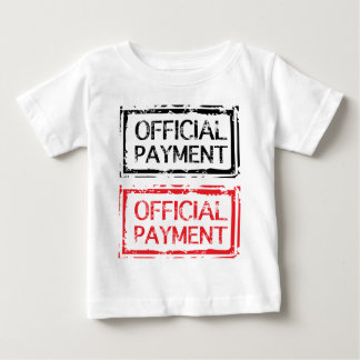 Sello oficial del Grunge del pago Camiseta De Bebé