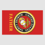 Sello oficial marino de los E.E.U.U. - padre Pegatina