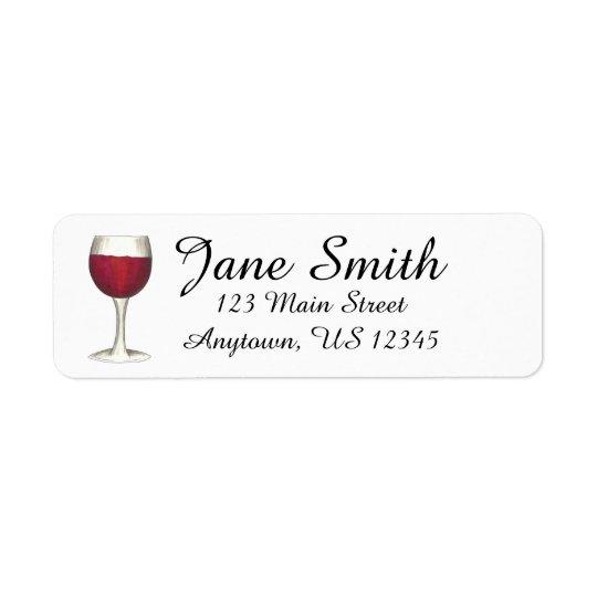 Sello personalizado copa de vino roja de la