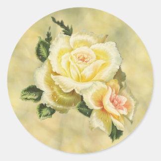 Sello poner crema del sobre de los rosas