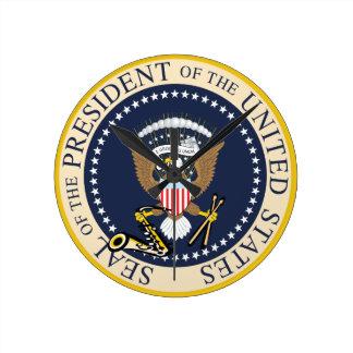 Sello presidencial: Reloj de pared