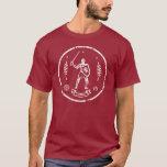 Sello redondo del caballero medieval camiseta