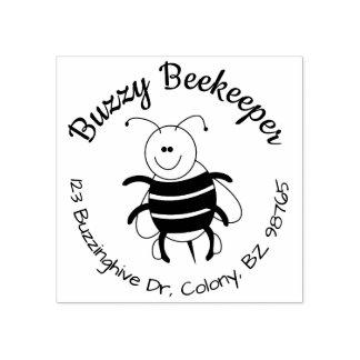 Sello redondo del remite de la abeja linda