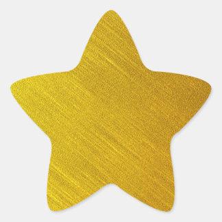 Sellos de la estrella del oro colcomanias forma de estrellaes