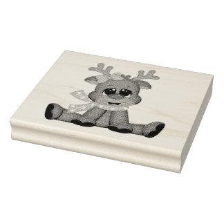 Sellos de madera/bebé Rudolph del arte