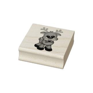 Sellos de madera del arte/bebé lindo Rudolph