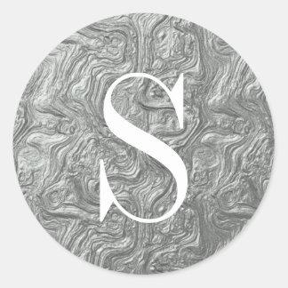 Sellos de plata con clase del sobre del monograma