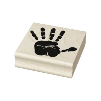 Sellos del arte/impresión de madera de la mano