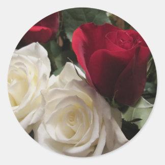 Sellos del sobre de los pegatinas de los rosas