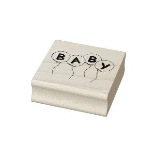 Sellos/globos de madera del arte con el bebé sello de caucho