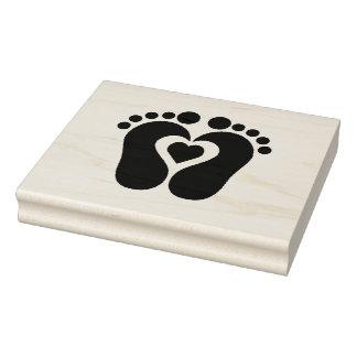 Sellos/huellas de madera del arte con el corazón sello de caucho