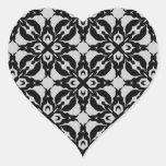 Sellos negros y grises góticos del sobre del calcomanía de corazón personalizadas