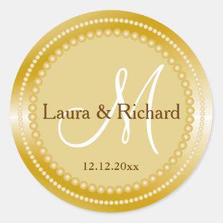 Sellos personalizados del monograma del boda del