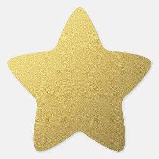 Sellos y pegatinas de la estrella del oro