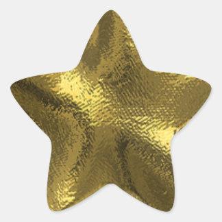 Sellos y pegatinas de la estrella del oro pegatina forma de estrella