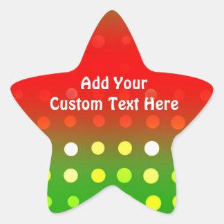 Sellos y pegatinas festivos de las luces de pegatinas forma de estrella personalizadas