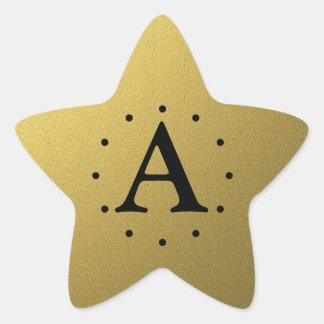 Sellos y pegatinas iniciales de la estrella del calcomanías forma de estrella