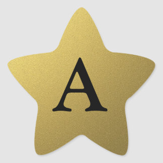 Sellos y pegatinas iniciales de la estrella del pegatinas forma de estrellaes