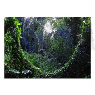 Selva tropical hawaiana tarjeta de felicitación