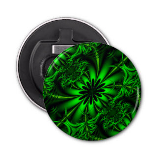Selva verde abstracta del fractal abrebotellas redondo