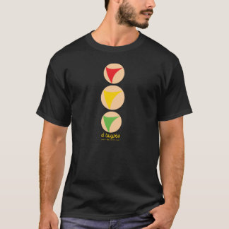 Semáforo amarillo destacado - negro camiseta