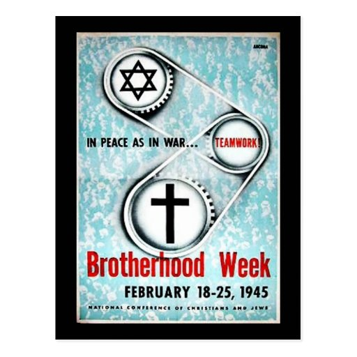 Semana de la fraternidad tarjeta postal