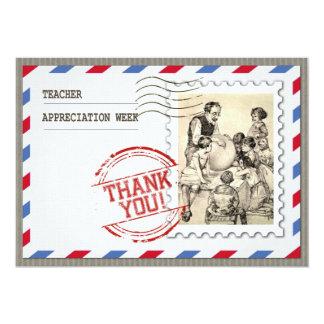 Semana del aprecio del profesor. Tarjetas Invitación 12,7 X 17,8 Cm