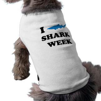 Semana del tiburón camiseta sin mangas para perro