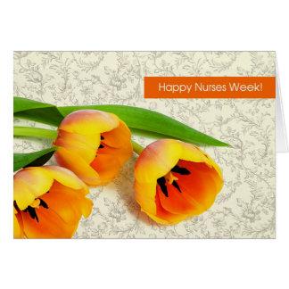 Semana feliz de las enfermeras. Tarjeta de felicit
