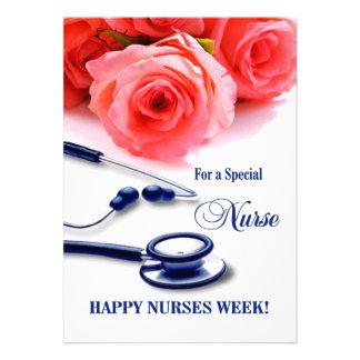 Semana feliz de las enfermeras Tarjetas de felici Invitación