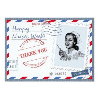 Semana feliz de las enfermeras. Tarjetas planas Invitación 12,7 X 17,8 Cm